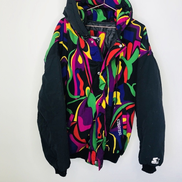 ed2e224bc01 STARTER 90s Retro Rainbow PRIDE Insulated Jacket. M 5b204c43f63eea09072ed501